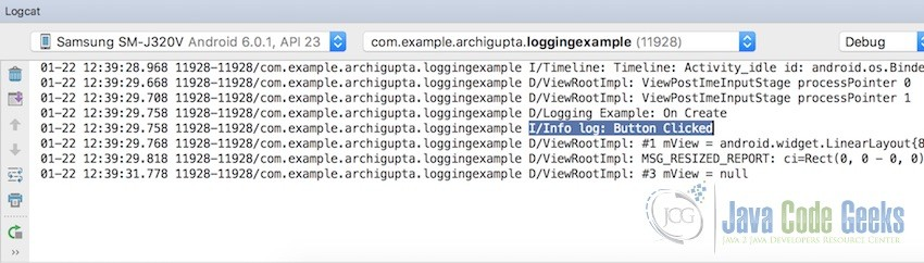Android Logging Example | Examples Java Code Geeks - 2019