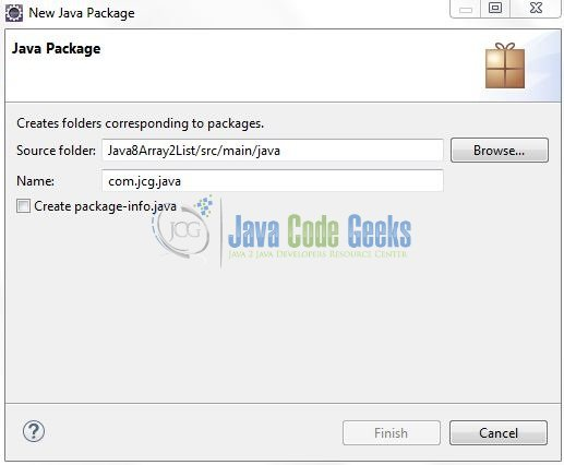 Fig. 6: Java Package Name (com.jcg.java)