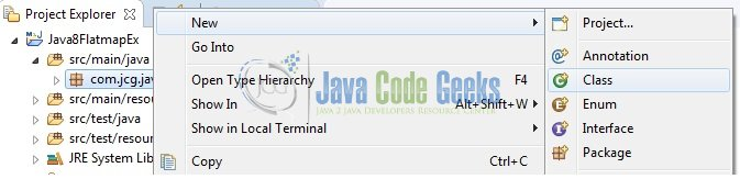 Fig. 8: Java Class Creation