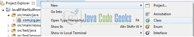 Fig. 7: Java Class Creation