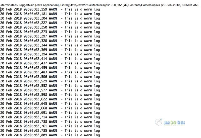 Log4j Date Format Example | Examples Java Code Geeks - 2019