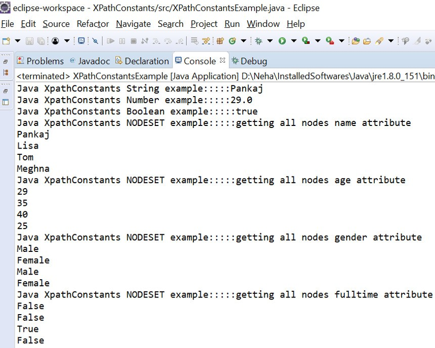 Java XPathConstants Example | Examples Java Code Geeks - 2019