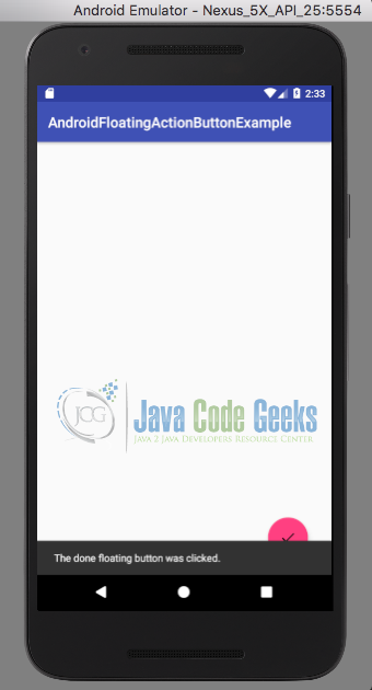 Android FloatingActionButton Example | Examples Java Code
