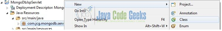 Fig. 9: Java Class Creation