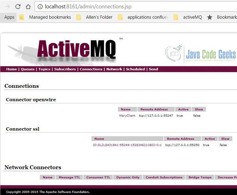 Apache ActiveMQ SSL Example | Examples Java Code Geeks - 2019