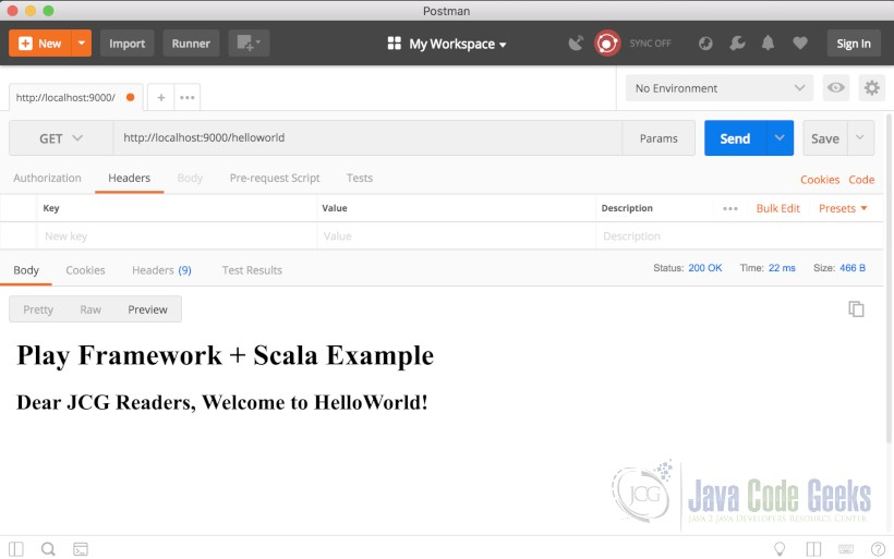 Play Framework Hello World - HelloWorld With Web Browser