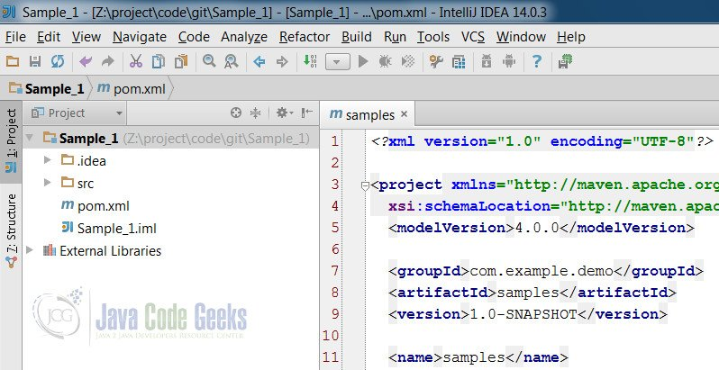 IntelliJ IDEA Remove Project - Sample project
