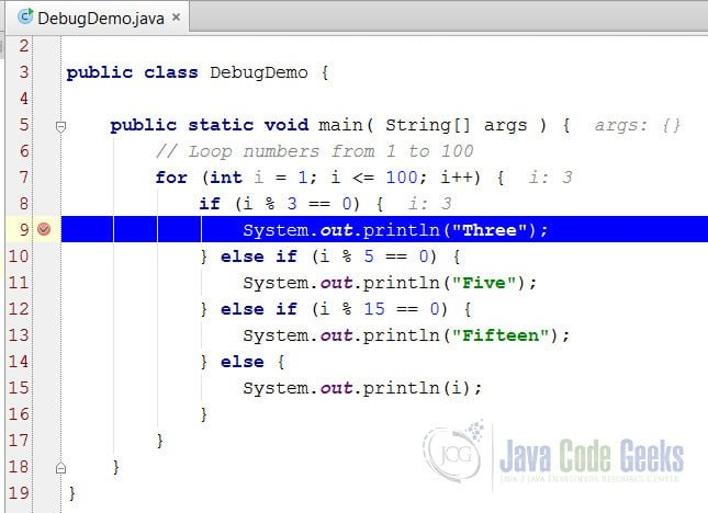 IntelliJ IDEA Debug Java Application - Suspended execution at the breakpoint