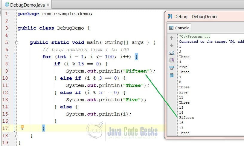 IntelliJ IDEA Debug Java Application - Successful program after correcting the bug