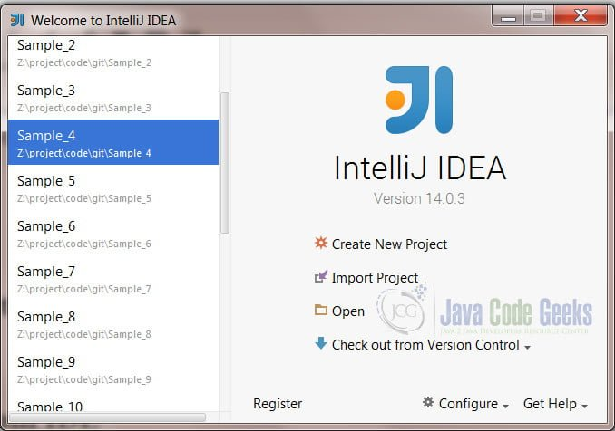 IntelliJ IDEA Remove Project - sample project in IntelliJ IDEA