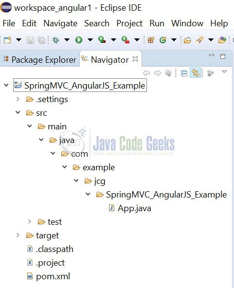 Spring MVC 4 AngularJS - Maven project structure