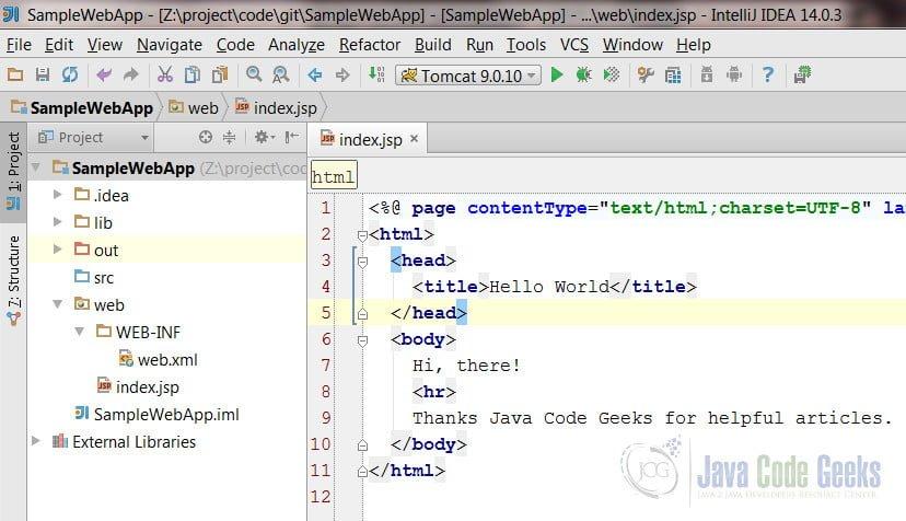 IntelliJ IDEA Automatic Deploy Example | Examples Java Code
