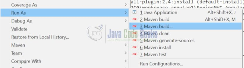 Spring MVC 4 AngularJS - Run Maven build