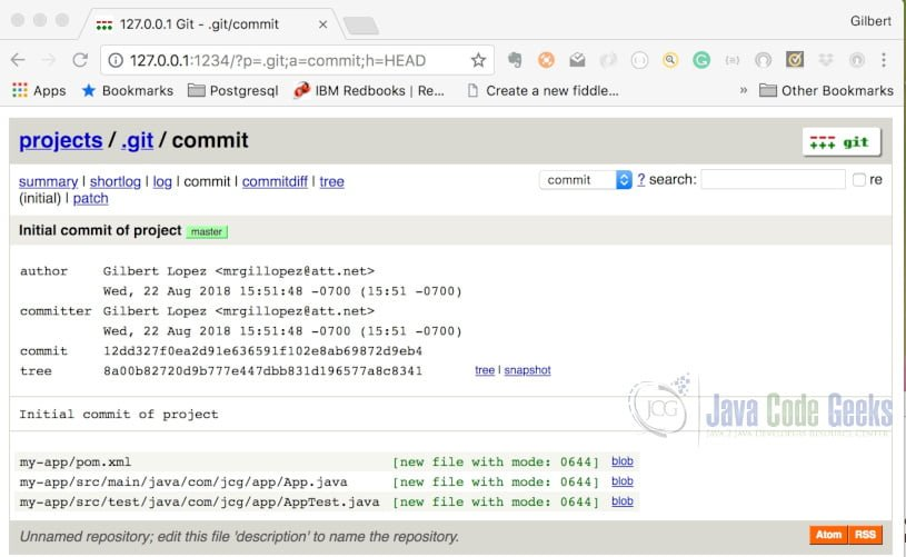 Git Instaweb - Commit View