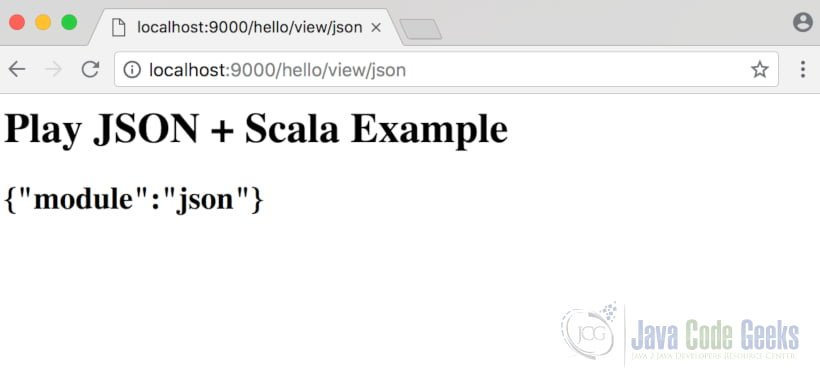 Play! Framework JSON & Scala Example | Examples Java Code Geeks - 2018