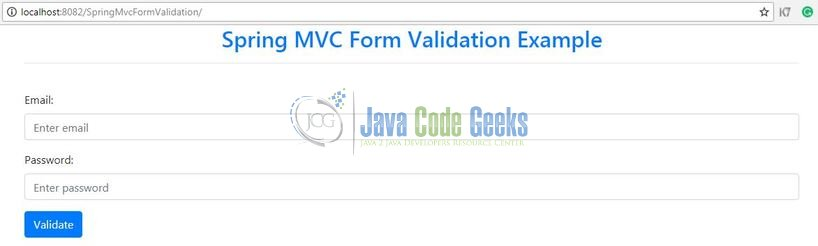 Spring MVC Form Validation - Login form