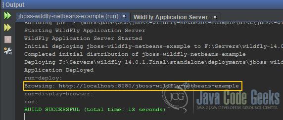 JBoss WildFly NetBeans Example | Examples Java Code Geeks - 2019