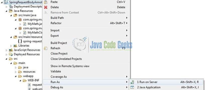 Spring @RequestBody Annotation Example | Examples Java Code Geeks - 2019