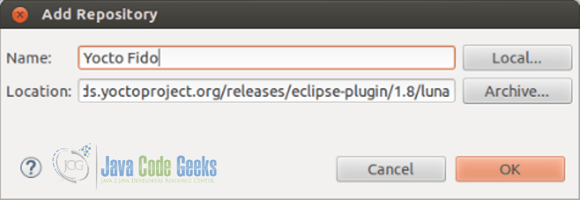Eclipse IDE Yocto Plugin Tutorial | Examples Java Code Geeks - 2019