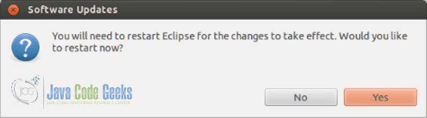 Eclipse IDE Yocto Plugin - restart Eclipse so that the changes take effect