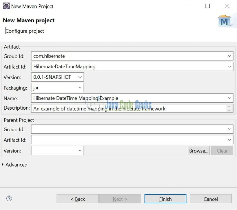 Hibernate DateTime Mapping Example   Examples Java Code