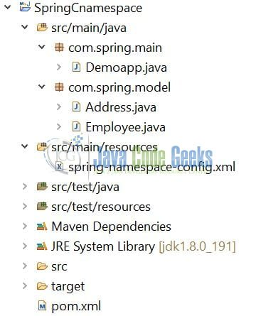 Spring c-namespace - Application Project Structure
