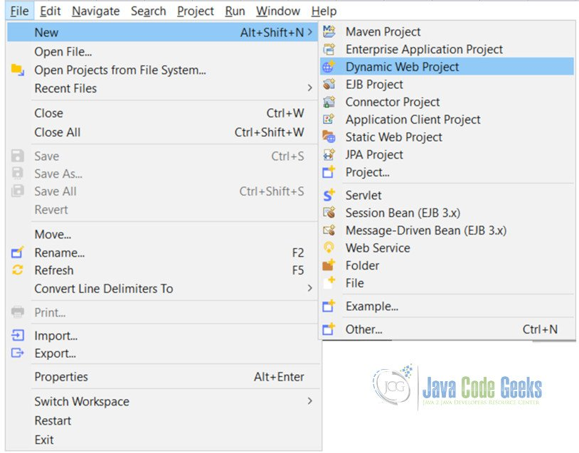 JSF Backing Bean Example -  Dynamic Project in Eclipse