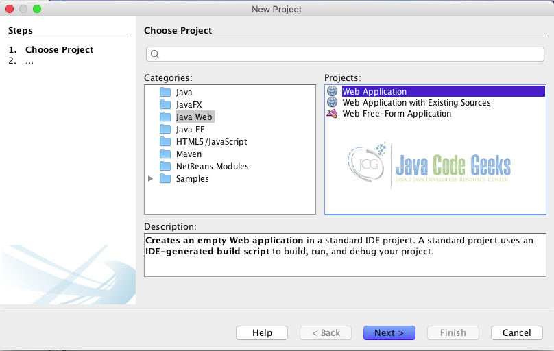 Spring Netbeans - Create the project