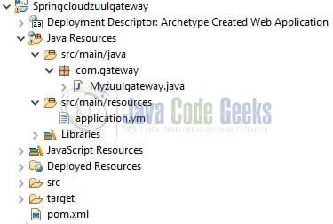Spring Cloud Zuul Gateway - Application Structure