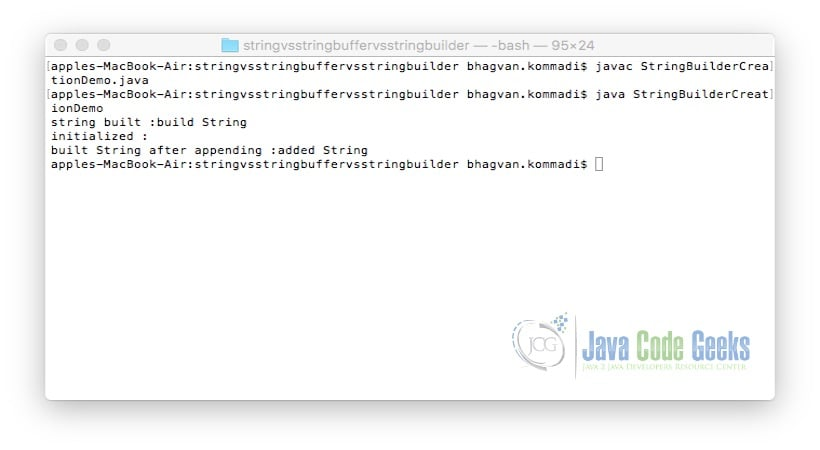 Java string initialize