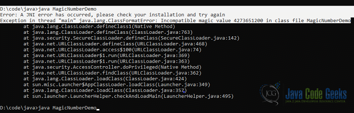 Java .class File - value error in java